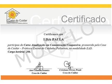 Modelo certificado - Curso comunicação compassiva